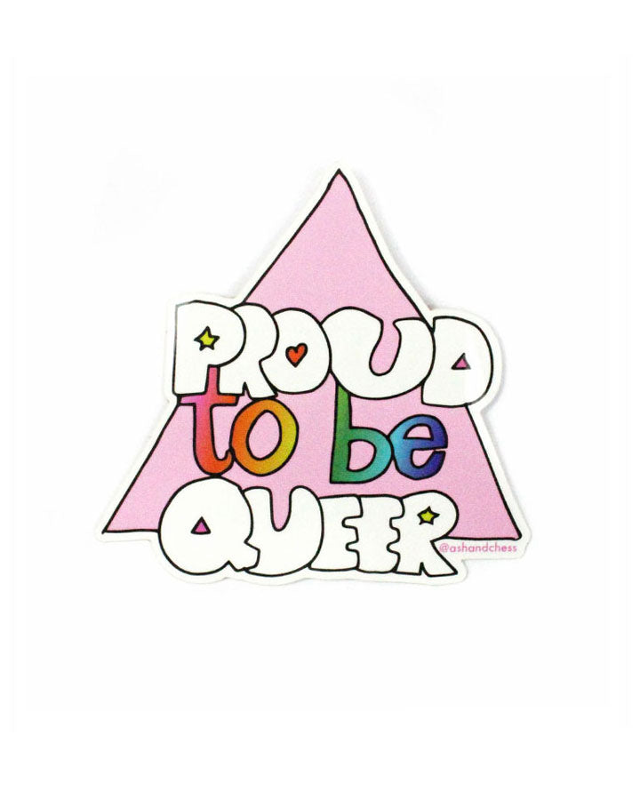 Proud To Be Queer Sticker-Ash + Chess-Strange Ways