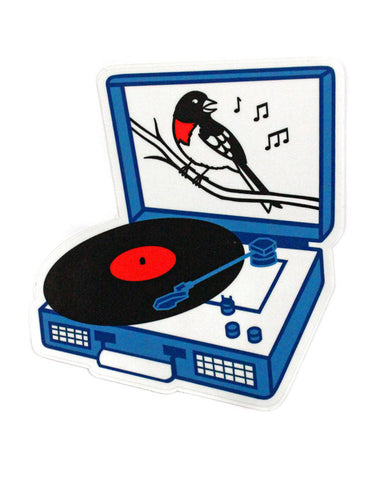 Songbird Record Player Sticker
