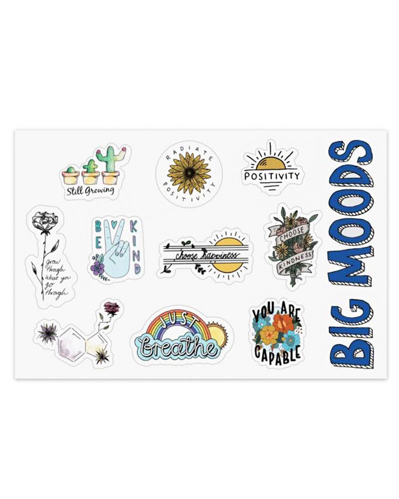 Mental Health Sticker Sheet-Big Moods-Strange Ways