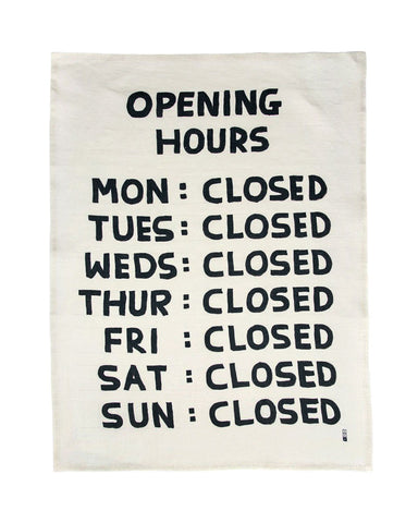 Opening Hours Tapestry