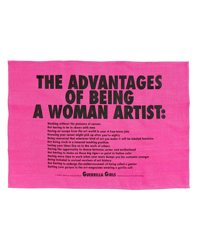 Advantages Of Being A Woman Artist Tapestry Tea Towel