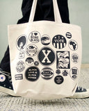 Black Power Buttons Tote Bag (Limited Edition)-All Very Goods-Strange Ways