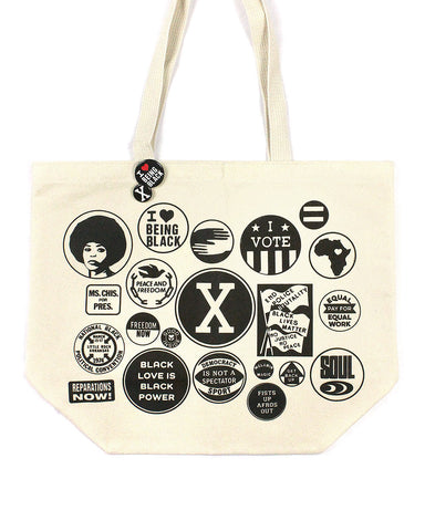 Black Power Buttons Tote Bag (Limited Edition)