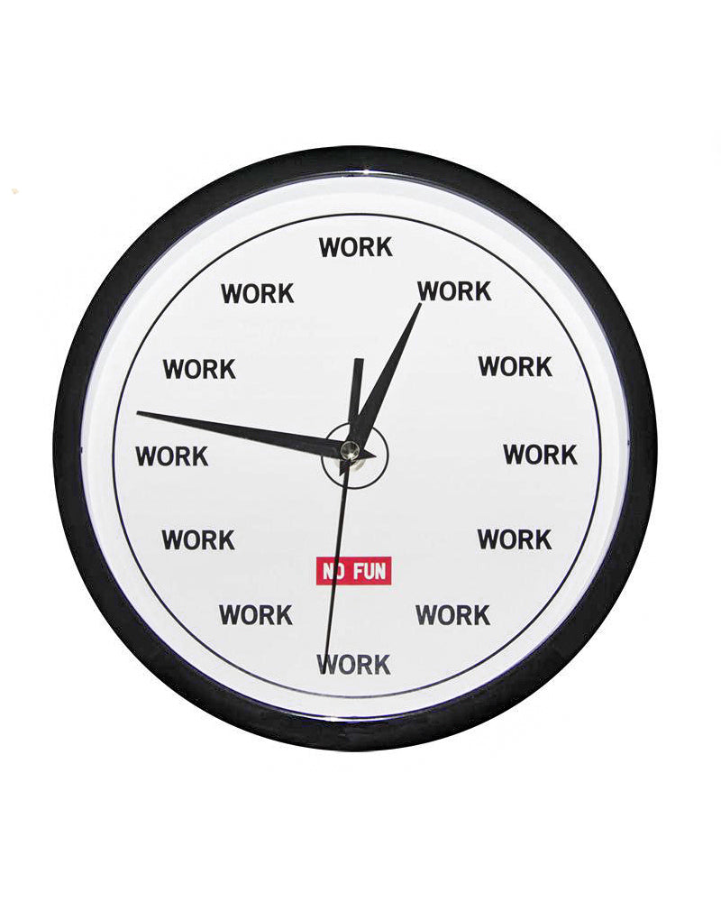 WORK Wall Clock-No Fun Press-Strange Ways