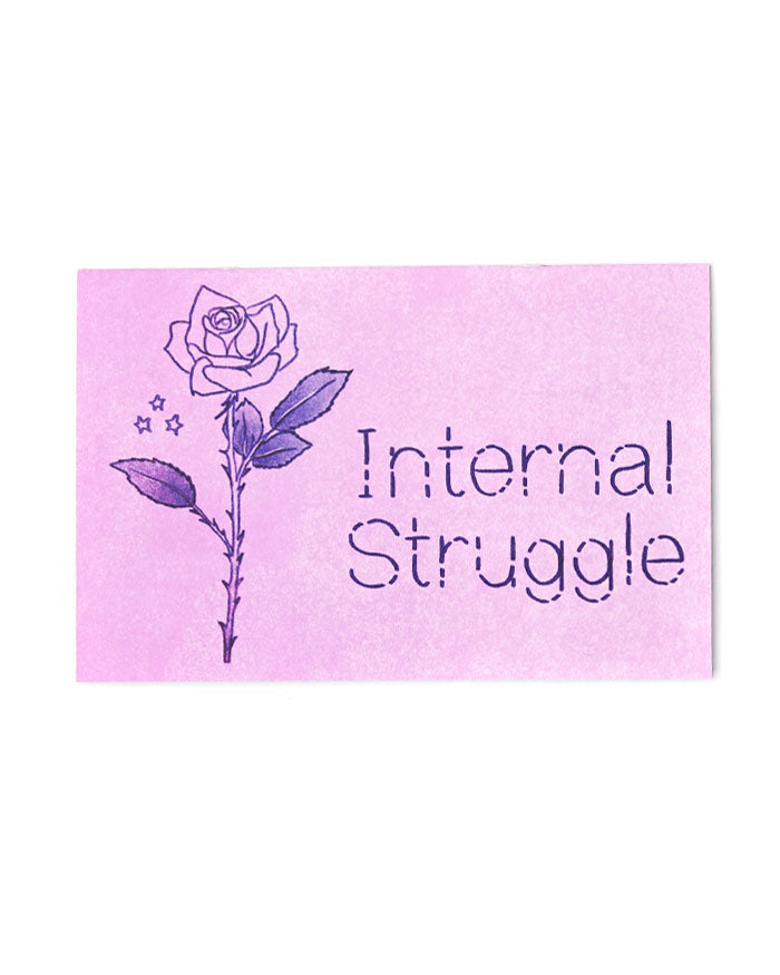 Internal Struggle Art Zine (Limited Edition)-Sabrina Elliott-Strange Ways