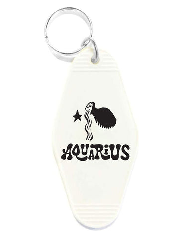 Aquarius Zodiac Sign Keychain