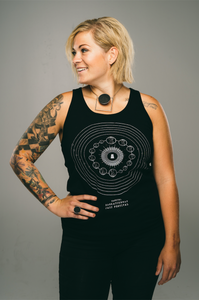 Unisex Solo Crop Circle Tank (Black)