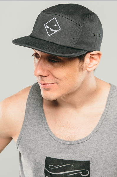 Unisex Snapback Moon Hat (Black)