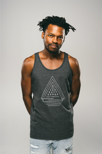 Unisex Triple Triangle Tank (Charcoal)