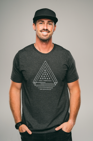 Unisex Triple Triangle Tee (Charcoal)