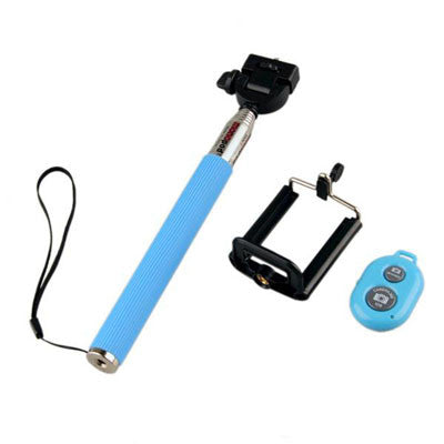 selfie stick monopod extendable with bluetooth control and clip iphonefixuk. Black Bedroom Furniture Sets. Home Design Ideas