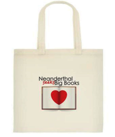 "BAG KitC: Canvas, Small ""Neanderthal Seeks Big Books"""