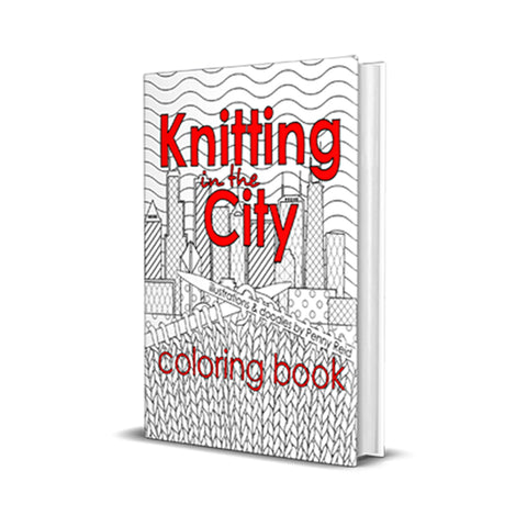 BOOK Knitting in the City Coloring Book - Signed