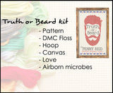 KIT WB: Truth or Beard Cover Cross-stitch Kit
