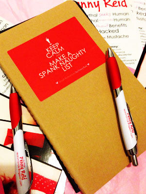NOTEBOOK KitC: Spank Naughty List in brown