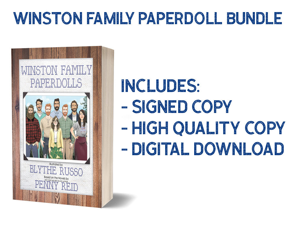 BUNDLE Winston Family Paperdoll Books  - Signed