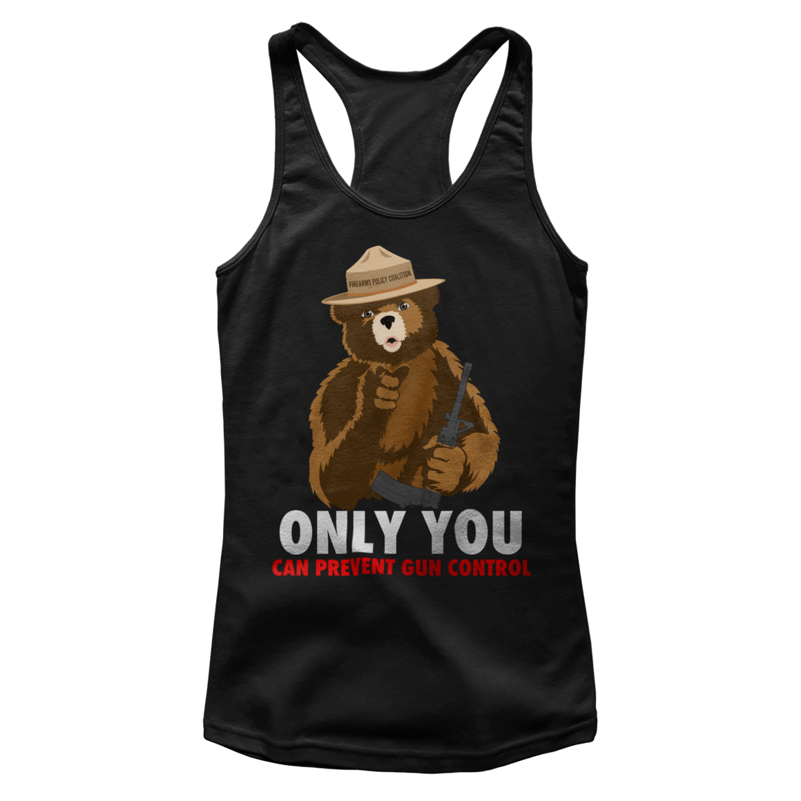 """Only You Can Prevent Gun Control"" (Ladies Tank)"