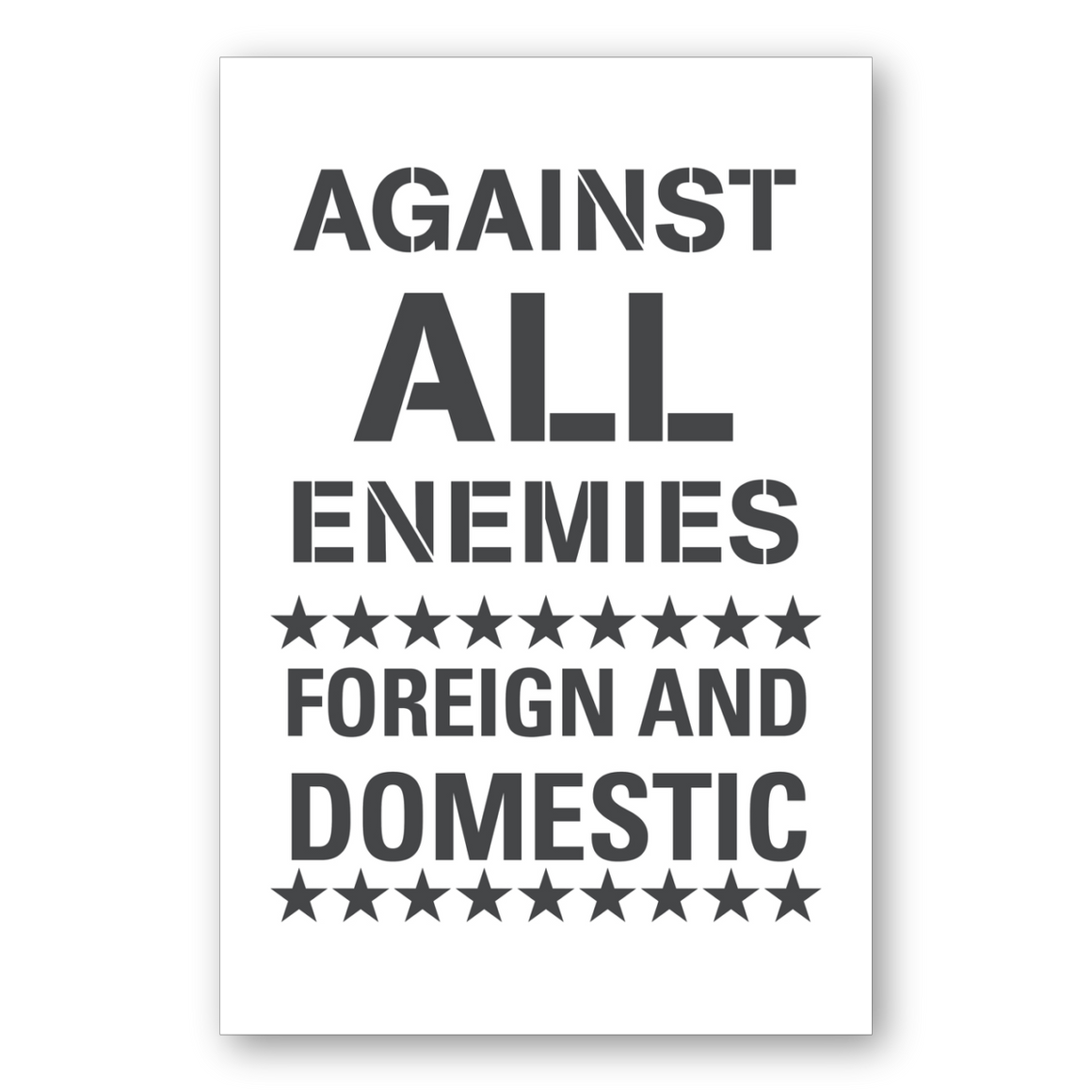 Against All Enemies Poster