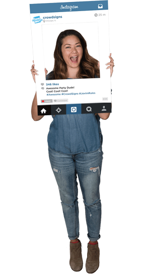 Instagram for Pinterest Custom Photo Prop  , CrowdSigns - 1