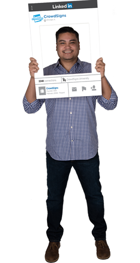 Linkedin Custom Photo Prop  , CrowdSigns - 1