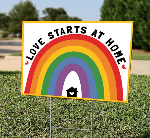 Love Starts At Home (Rainbow)