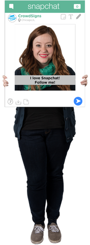 SnapChat Custom Photo Prop  , CrowdSigns - 1