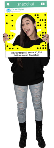 SnapChat (Ghost) Custom Photo Prop  , CrowdSigns - 1