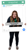 SnapChat Custom Photo Prop Large / FAST , CrowdSigns - 4