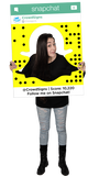 SnapChat (Ghost) Custom Photo Prop Large / FAST , CrowdSigns - 4