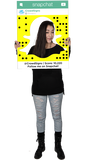SnapChat (Ghost) Custom Photo Prop Medium / FAST , CrowdSigns - 3