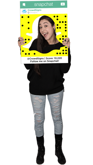 Etsy SnapChat (Ghost) Custom Photo Prop  , CrowdSigns