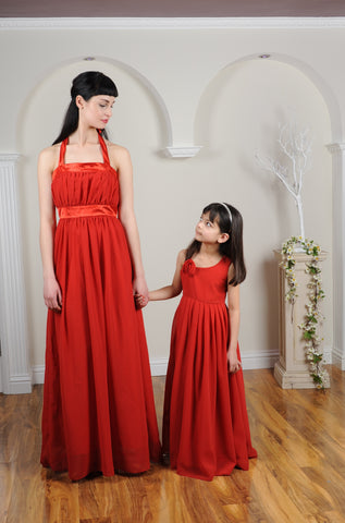Floor Length Bridesmaid and Flower Girl Dresses
