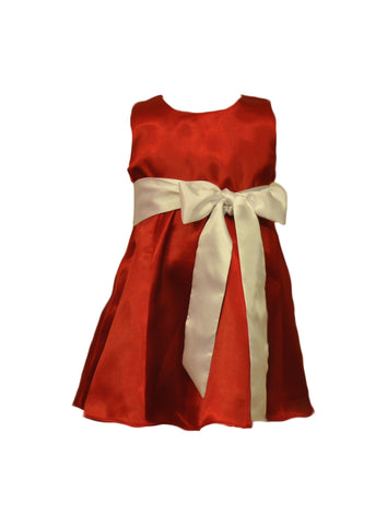 Red bridesmaid and flower girl dresses