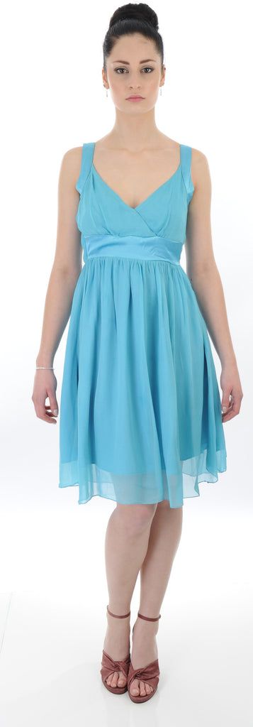 Turquoise empire waist prom, special occasion, bridesmaid dress