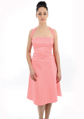 Multiway shoulder strap Coral Peach Bridesmaid Dress