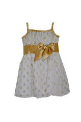 HALF PRICE Gold polka dot Top flower girl dress 4Y