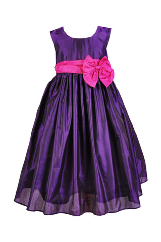 cadbury purple flower girl dress