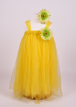 Yellow Tutu flower girl dress