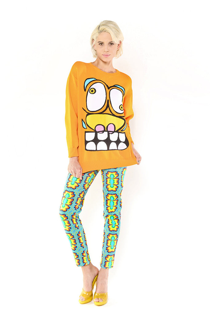 Cartoon Face Sweater