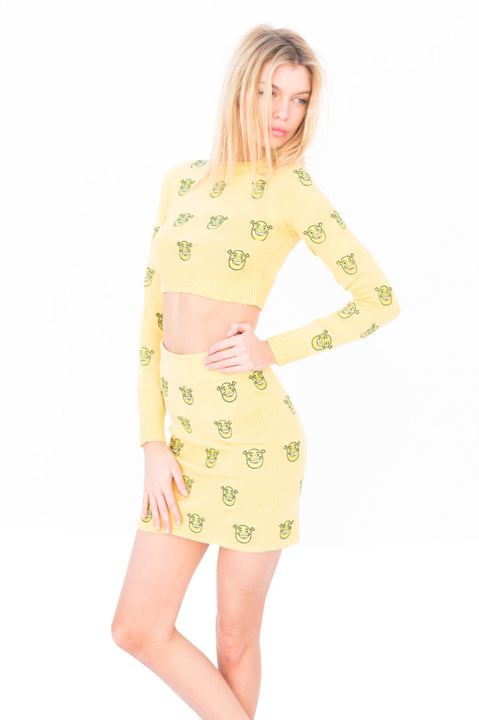Shrek Knit Skirt