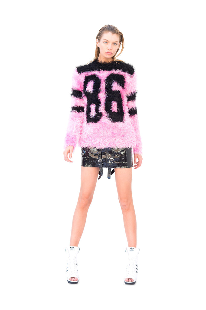 Pink Fuzzy Knit Sweater