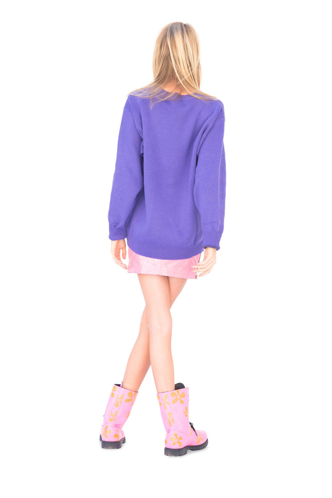 Purple Halloween Knit Sweater