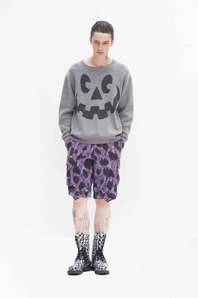 Grey Halloween Knit Sweater