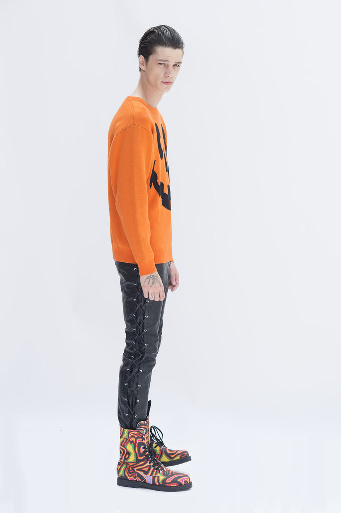 Orange Halloween Knit Sweater