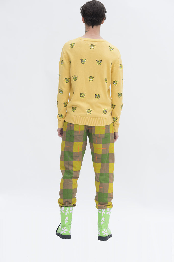 Shrek Embroidered Head Sweater