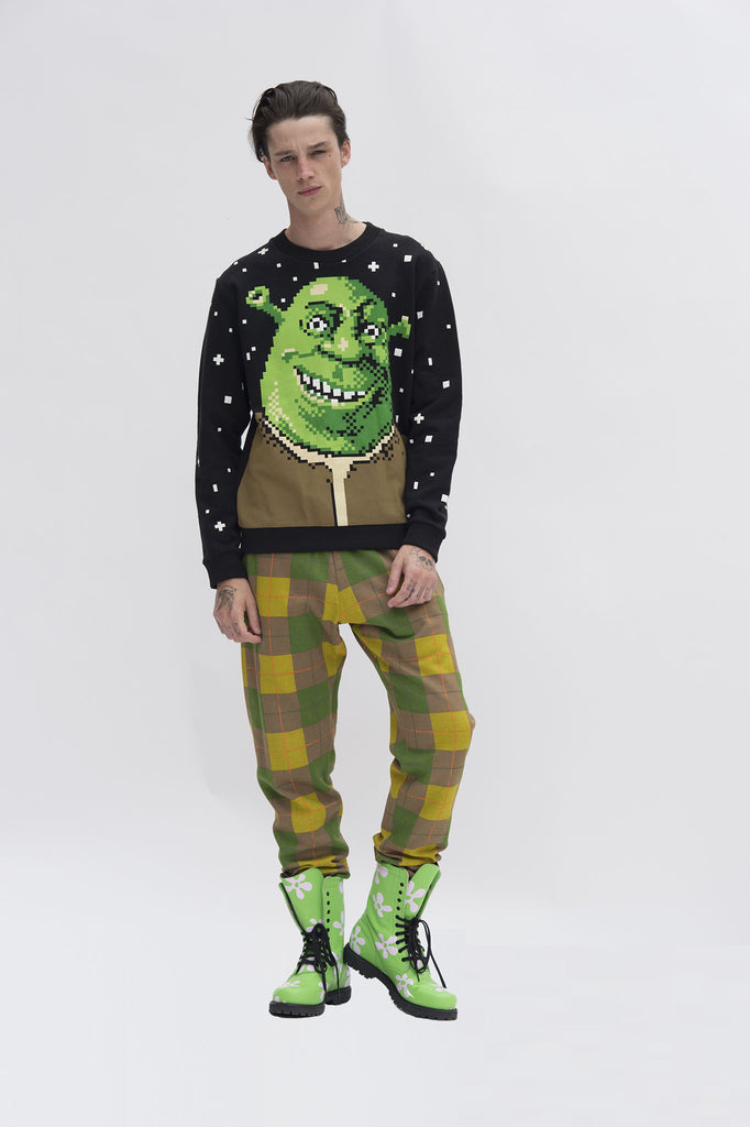 Shrek Pixel Sweater