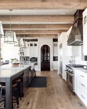 @ktmarshalldesign kitchen wood beams #greigestyle feed