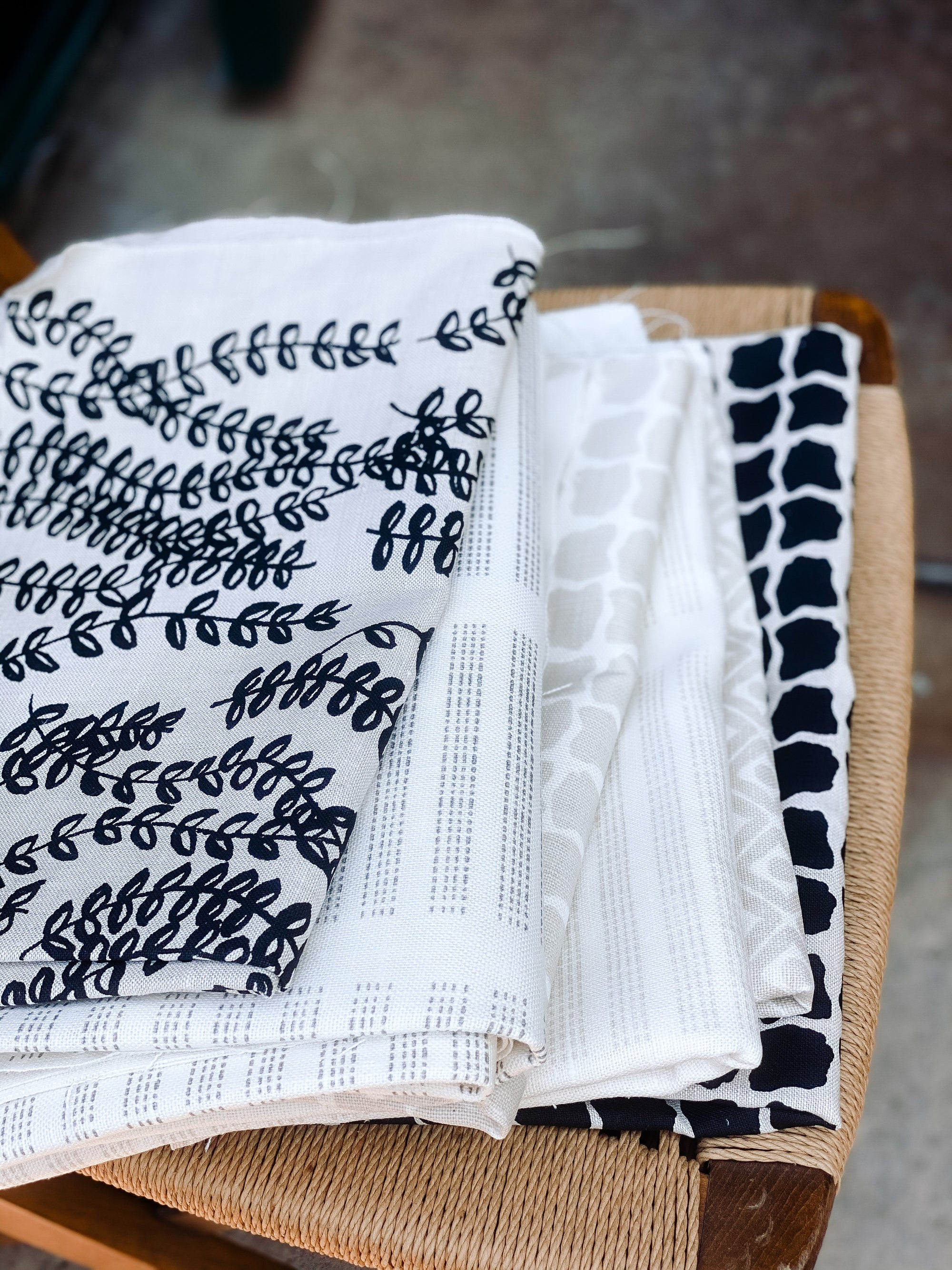 greige textiles collection six antoinette perche hugh hale handprinted on belgian linen