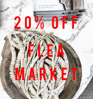 Save 20% in the flea market!