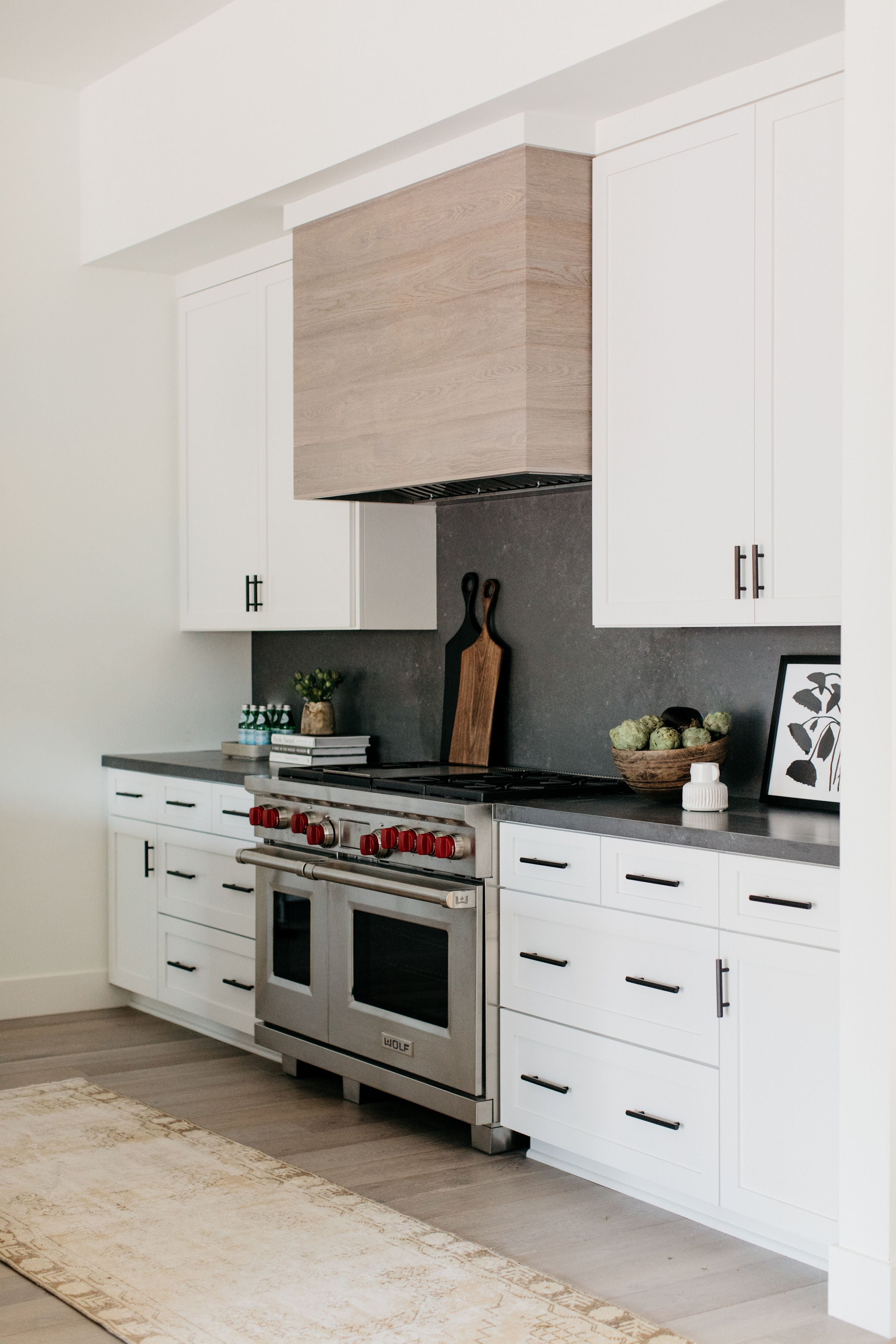 Albion project greige design shop + interiors Point Loma San Diego California black and white kitchen interior design